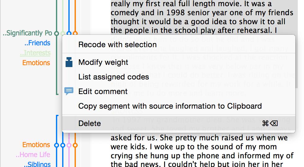 Delete Codings
