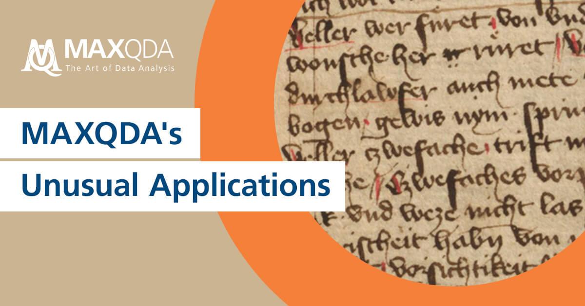MAXQDA's Unusual Applications: Corpus-Based Linguistic Research