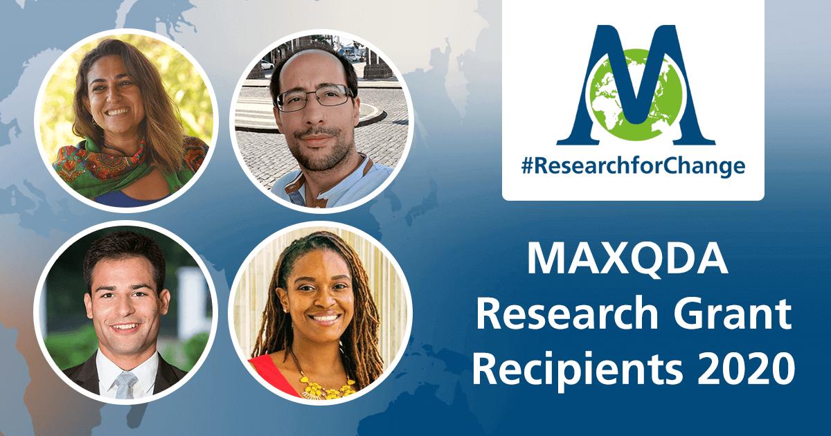 MAXQDA Grant Recipients 2020