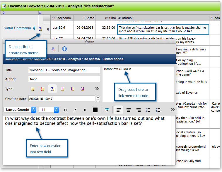 How to develop an interview guide in MAXQDA with the help of memos