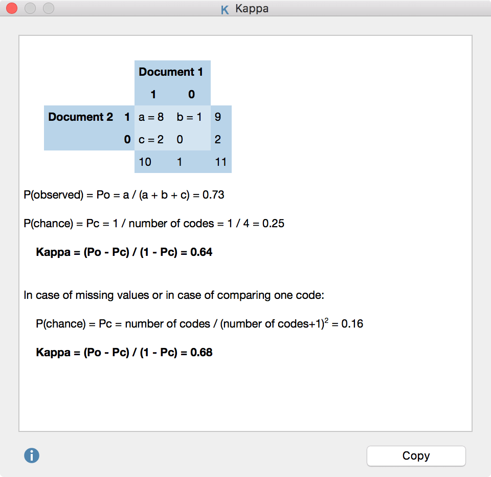 Calculate Kappa - intercoder agreement in MAXQDA