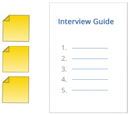 Use MAXQDA memos to develop an interview guide