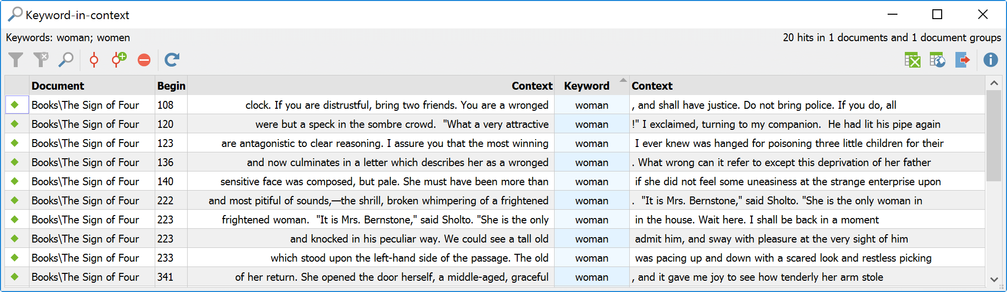 Keyword in Context with MAXQDA MAXDictio