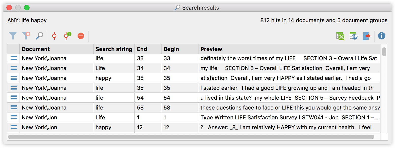 lexical-search-results