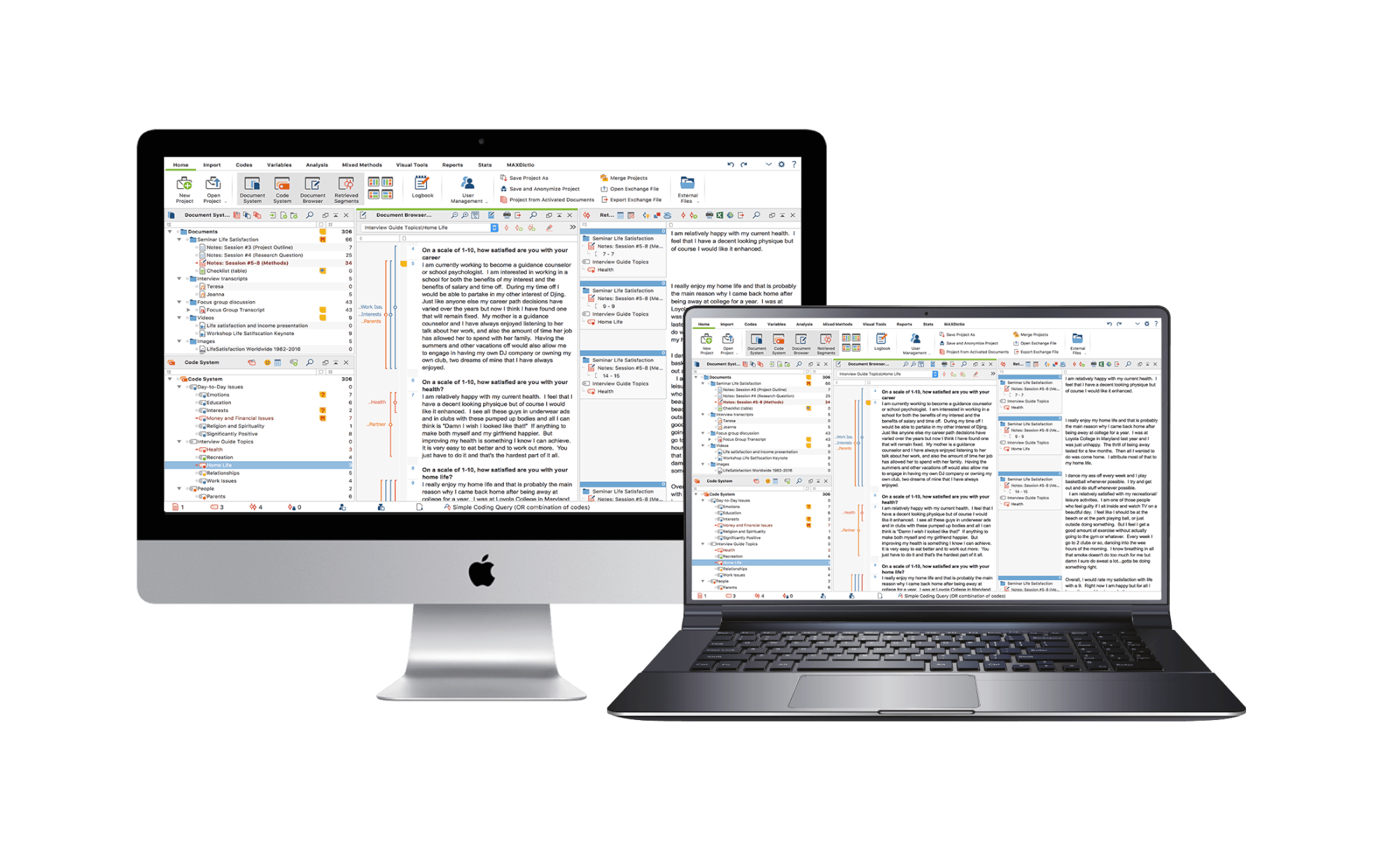 pesquisa qualitativa apoiada por softwares de análise de dados (CAQDAS - MAXQDA)