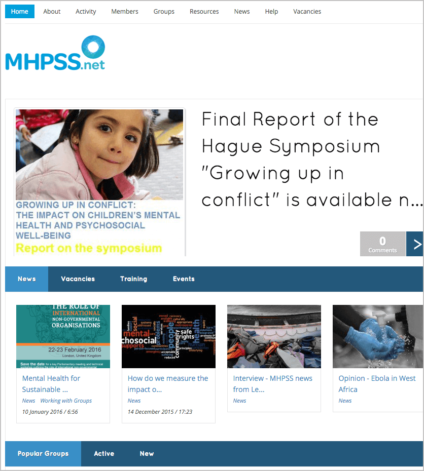 The MHPSS Network