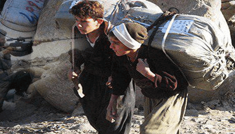 Kurdish children working