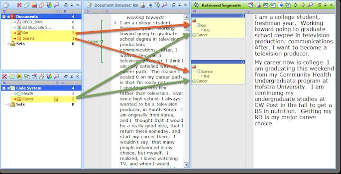 The MAXQDA interpretation tool 'Simple Retrieval'