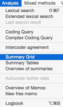 Summary Grid