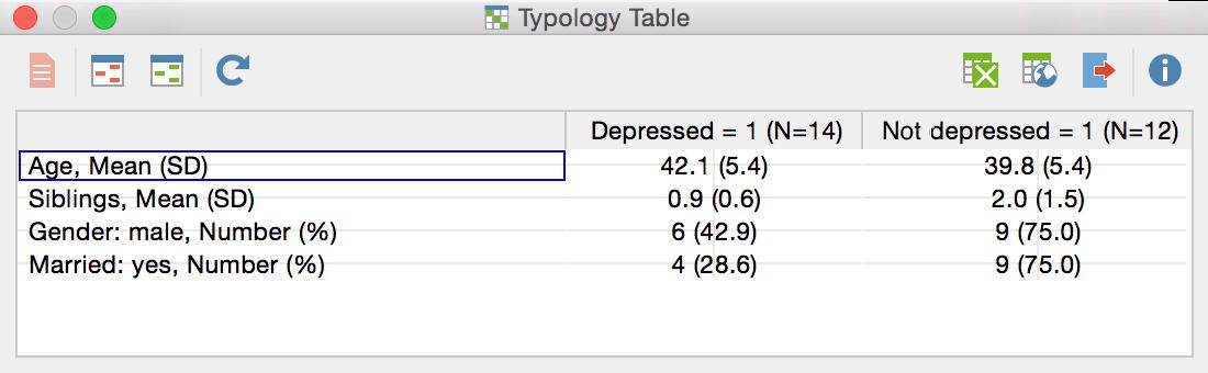 MAXQDA typology table
