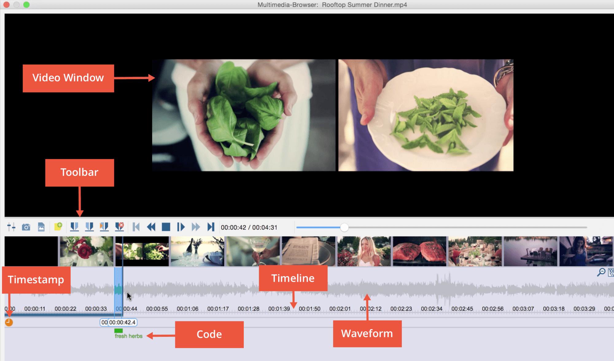 Code video files in MAXQDA