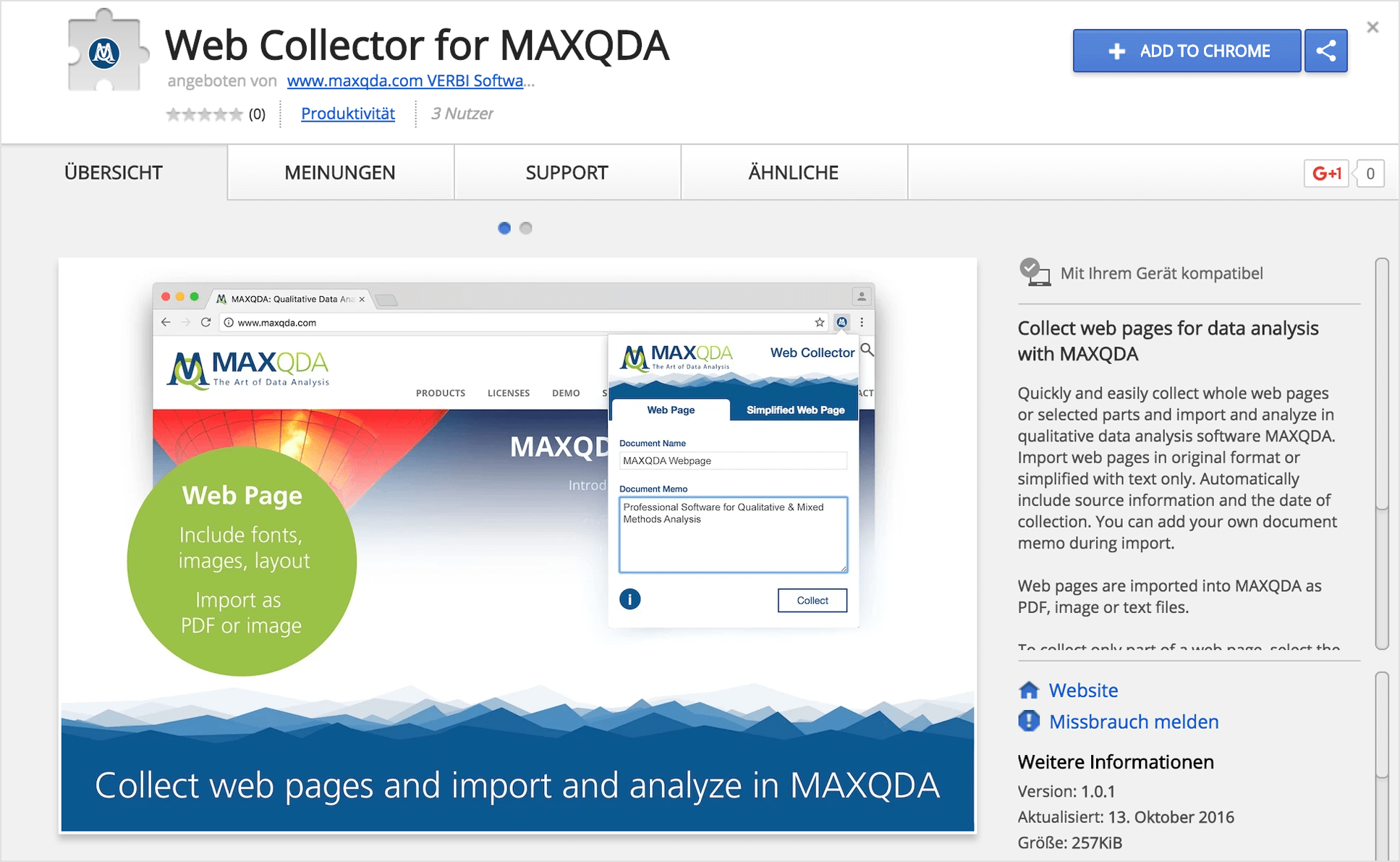 WebCollector for MAXQDA
